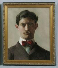 Fannie or Jennie Burr portrait of a young man c1898