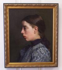 Fannie or Jennie Burr portrait of a girl 1898