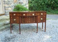 Baker American Federal mahogany serpentine front sideboard