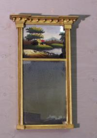 Antique gold leaf mirror 19th c