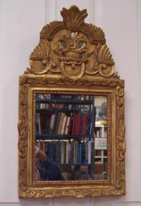 17th C Spanish gold leaf wall mirror