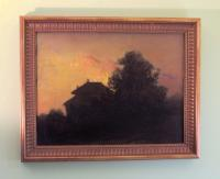 Fannie Burr Night Landscape oil painting on canvas