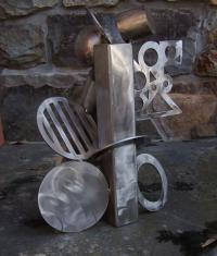 Cheryl Farber Smith abstract steel sculpture