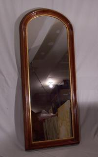 American black walnut Victorian tall wall mirror c1865