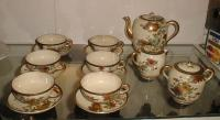 Antique Japanese Satsuma china tea set