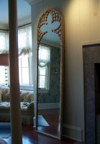 Continental Gothic style gold leaf mirror c1830
