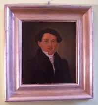 Oil portrait on board A Schimph c1833 of Copr Schlapprizi
