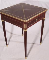 French mahogany N Lampre handkerchief card table c1875
