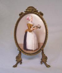 Baker Chocolate Co porcelain plaque c1880 by Mr Bucker Walker