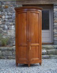 18thc country French provincial cherry corner cupboard c1780