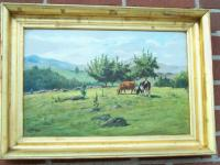 George Arthur Hays cow landscape oil painting