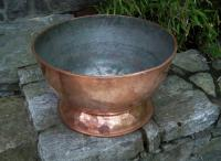 Large French copper champagne cooler