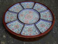 Chinese Canton enamel sweet meat tray