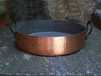 Large vintage French copper preserves cooking pan