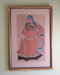 Chinese watercolor paintng of a Tang Official