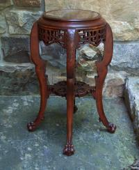 Chinese plant stand with claw feet c1900