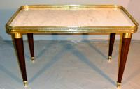 French marble top cocktail table c1920