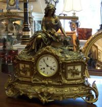 Japy Freres French bronze mantle clock c1880