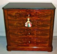 Directoire Neo Classic style figured mahogany bedside chest c1800