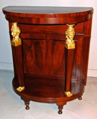 French Empire mahogany demi-lune console table c1850
