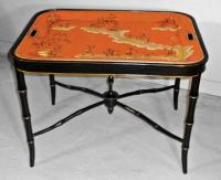 19th Century English painted tole tray