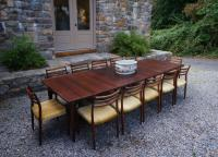 J L Moller 12 chairs Arne Vodder dining table c1962