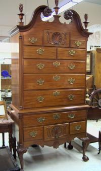 Nathan Margolis Makers mahogany highboy c1925-1930