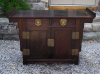 Chinese Ming style Zitan wood server sideboard c1950