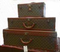 Set of vintage Louis Vuitton travel luggage