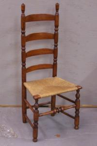 Early New England ladder back chair c1750