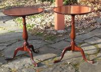 Matched pair of Nathan Margolis shop snake foot candle stands