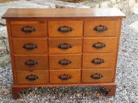 Early American country store  walnut apothecary chest c1860