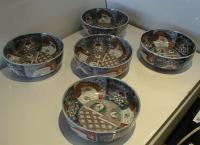 Imari Antique Imari Japanese porcelain bowls