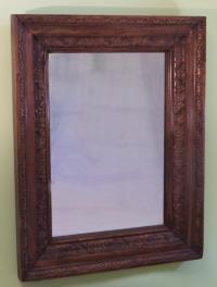 19th century Continental carved frame with mirror