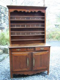 French Menager Dresser cupboard with plate rack c1780