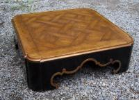 Baker baroque style parquet top coffee table