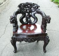Antique Chinese dragon chair c1880