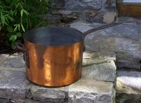 Large antique French copper pot