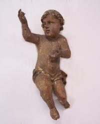 Italian carved wood Renaissance  putto or cherub 16th century