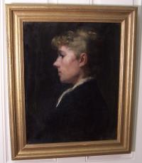 Portrait of Jennie Burr by Fannie Burr c1890