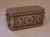 18thc Islamic brass and silver storage box