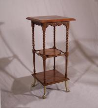 Huntzinger American Aesthetic Movement walnut plant stand c1885