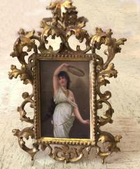 N Sichel French porcelain plaque c1880