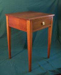 Antique American Heppelwhite country cherry one drawer stand c1820