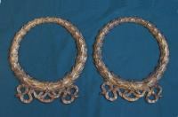 Antique classical gilt cast iron wreaths