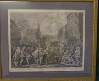 William Hogarth 1761 engraving March to Finchley