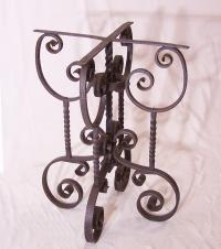 19th c hand wrought iron table base