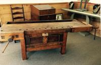 Early American cabinet makers work bench c1800
