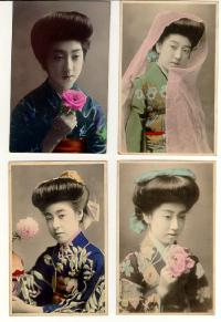 Geisha girl post cards Japanese Geisha