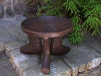 African tribal hand carved stool